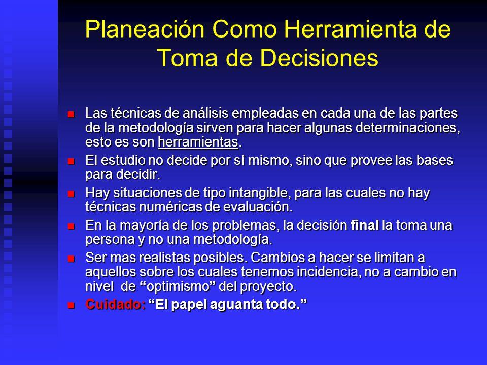Planeación Como Herramienta de Toma de Decisiones