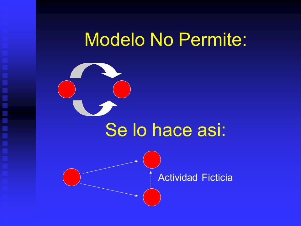Modelo No Permite: Se lo hace asi: Actividad Ficticia