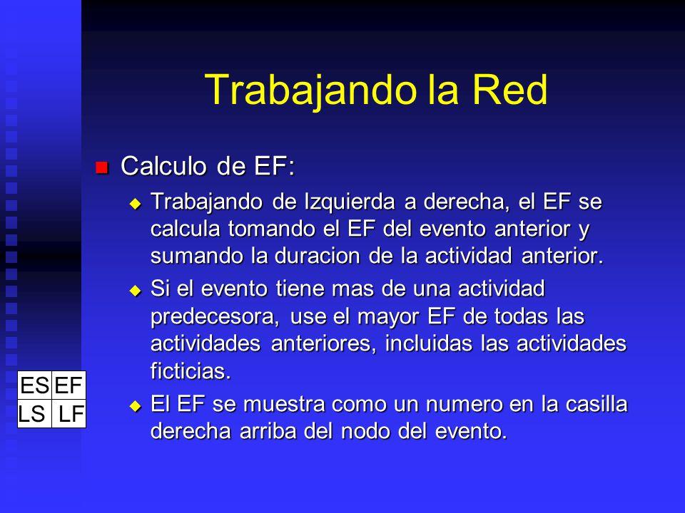 Trabajando la Red Calculo de EF: