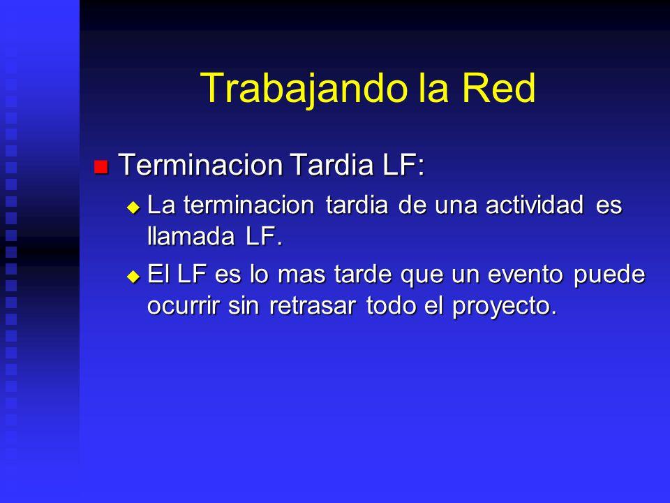 Trabajando la Red Terminacion Tardia LF: