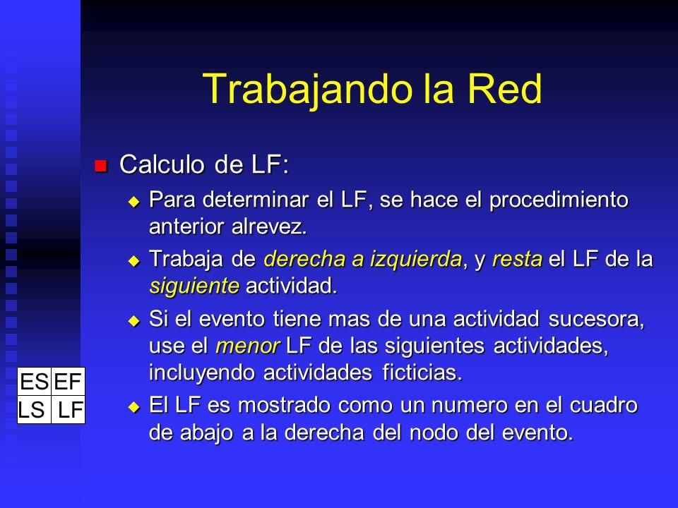 Trabajando la Red Calculo de LF: