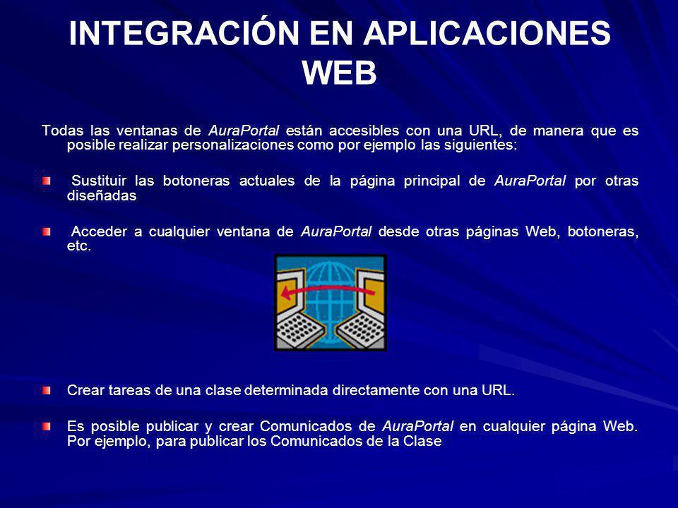 INTEGRACIÓN EN APLICACIONES WEB