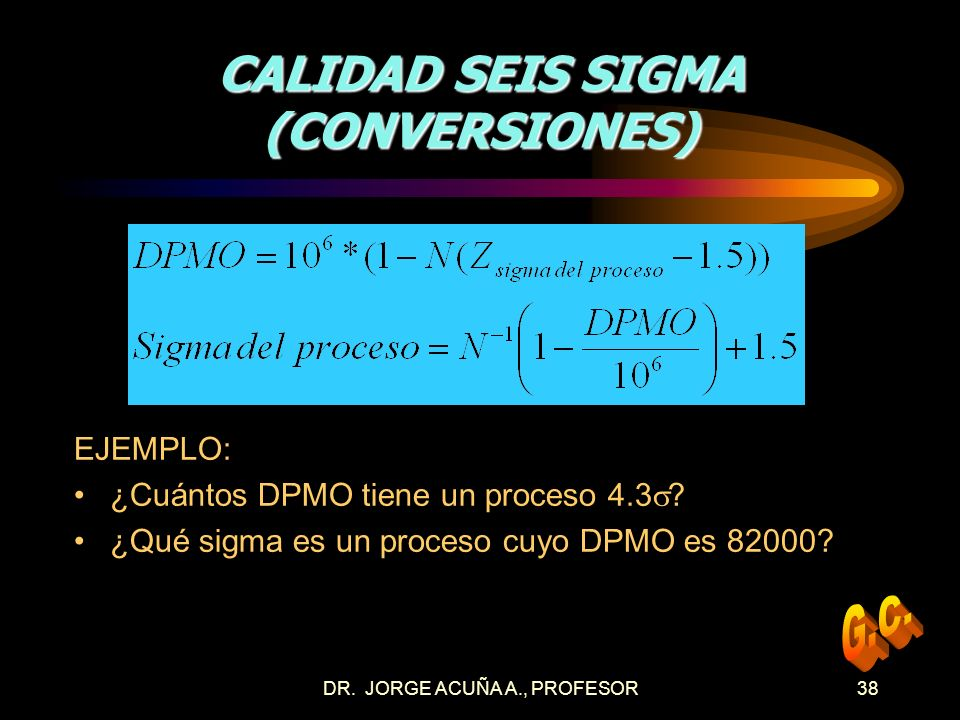 CALIDAD SEIS SIGMA (CONVERSIONES)