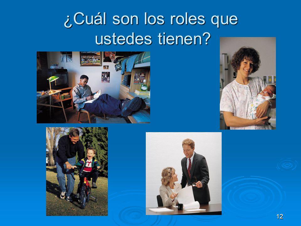 ¿Cuál son los roles que ustedes tienen