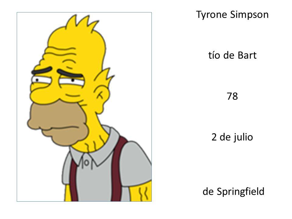 Tyrone Simpson tío de Bart 78 2 de julio de Springfield