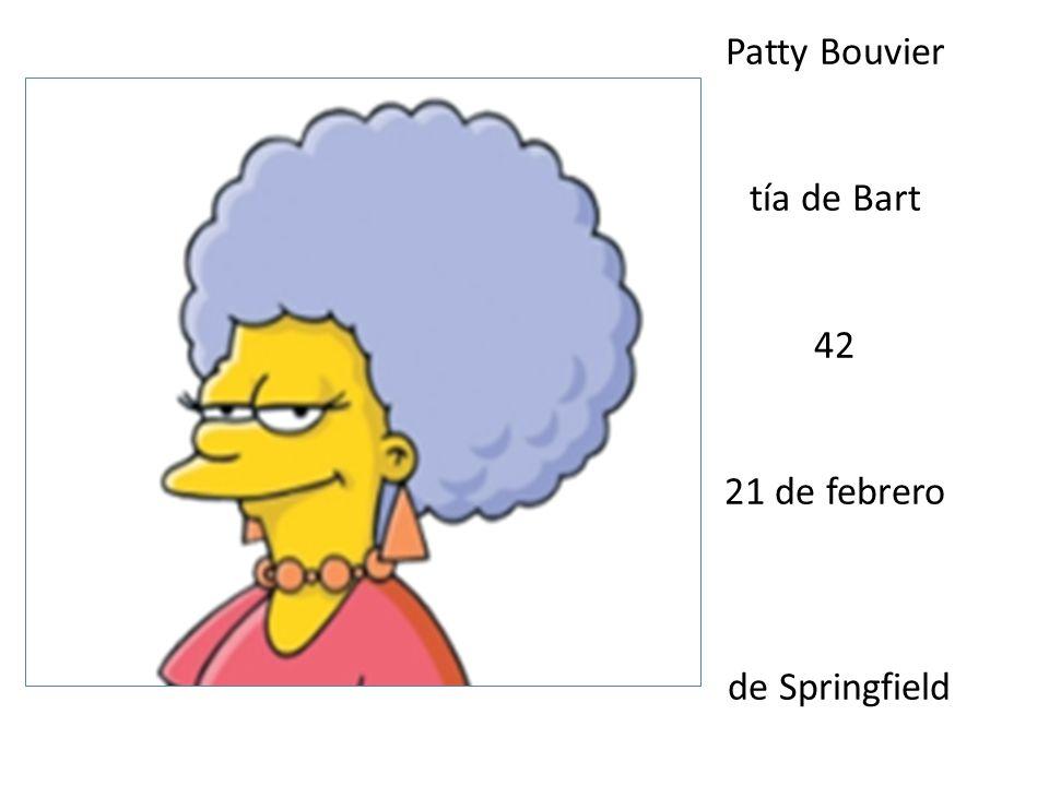 Patty Bouvier tía de Bart 42 21 de febrero de Springfield