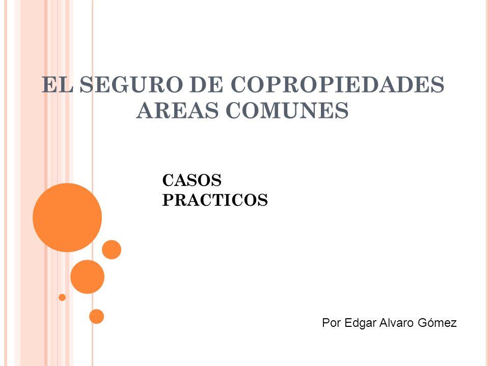 EL SEGURO DE COPROPIEDADES AREAS COMUNES