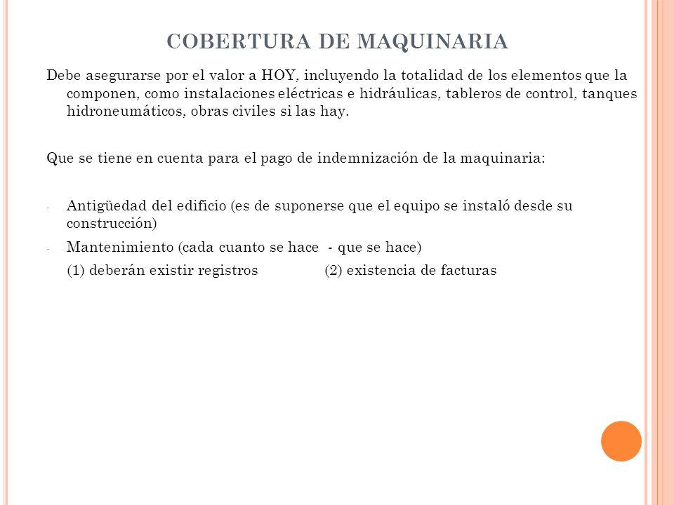 COBERTURA DE MAQUINARIA