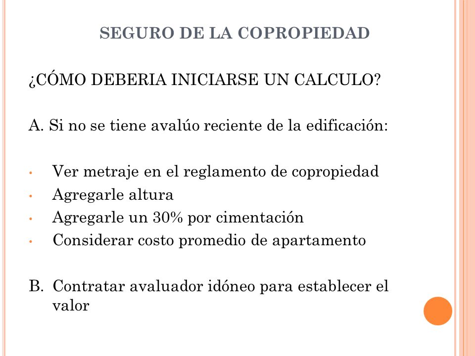 SEGURO DE LA COPROPIEDAD