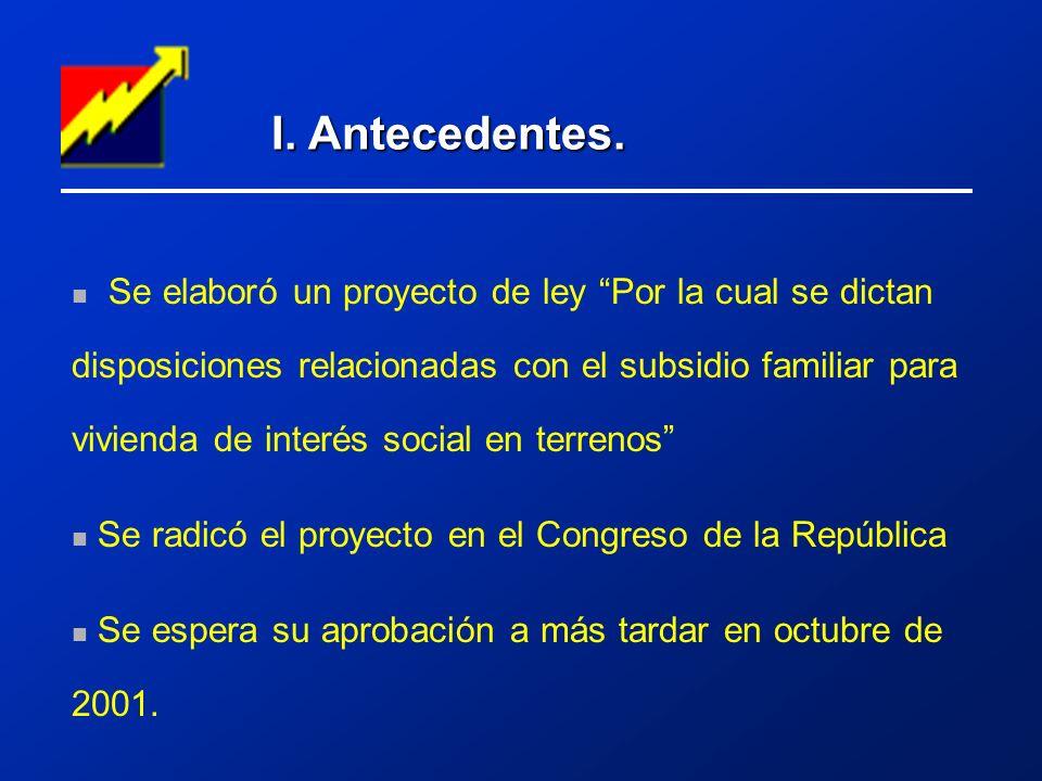 I. Antecedentes.