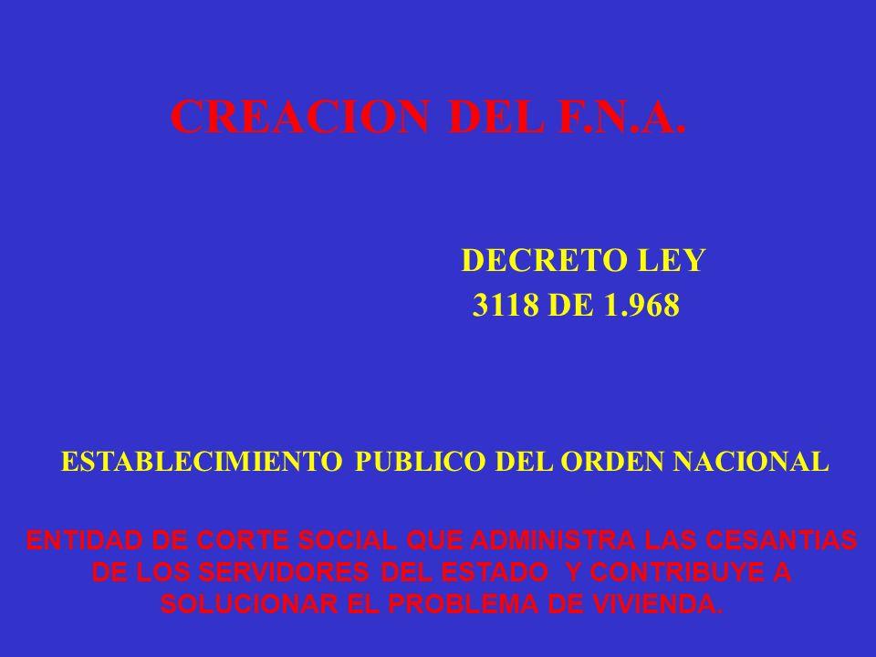ESTABLECIMIENTO PUBLICO DEL ORDEN NACIONAL