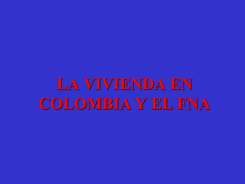 LA VIVIENDA EN COLOMBIA Y EL FNA