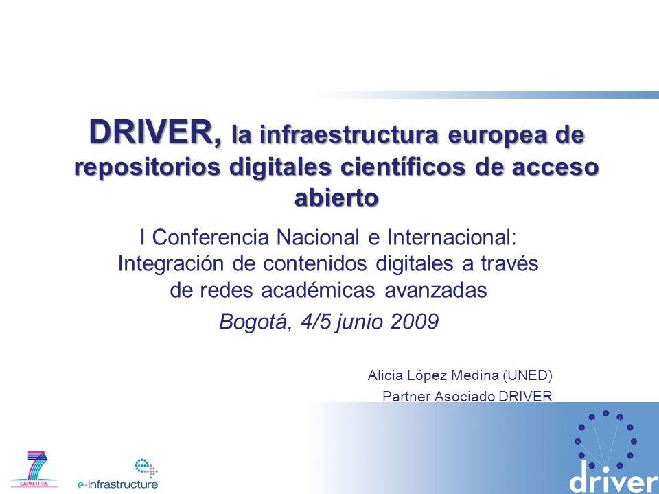 DRIVER, la infraestructura europea de repositorios digitales científicos de acceso abierto