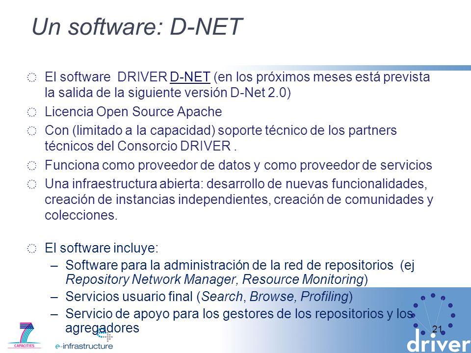 Un software: D-NETEl software DRIVER D-NET (en los próximos meses está prevista la salida de la siguiente versión D-Net 2.0)