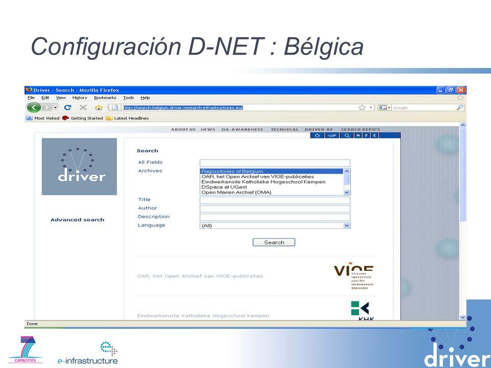 Configuración D-NET : Bélgica