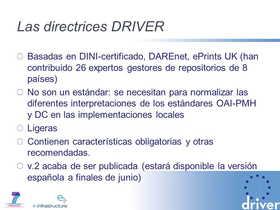 Las directrices DRIVER