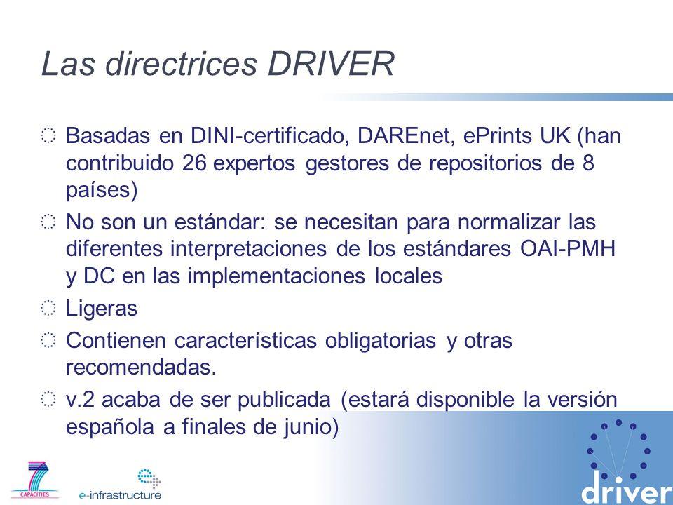 Las directrices DRIVER