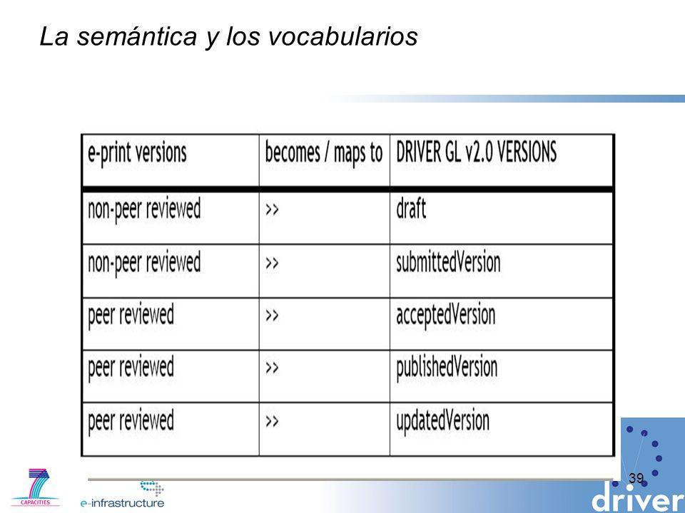 La semántica y los vocabularios