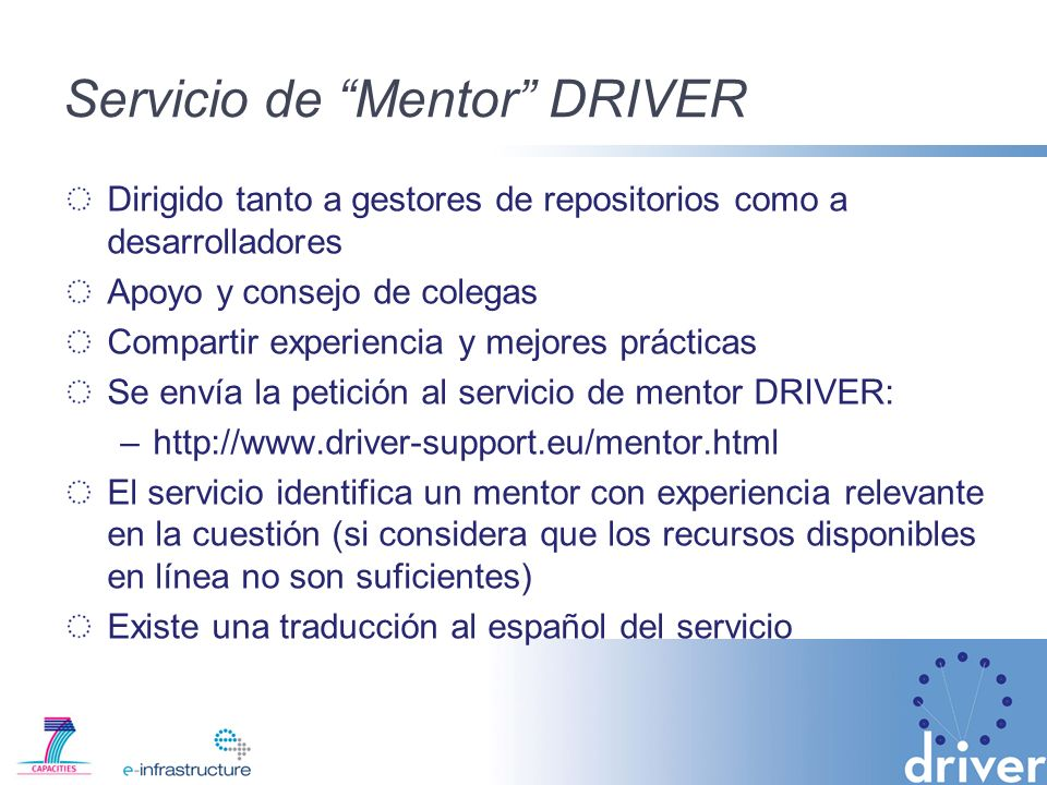 Servicio de Mentor DRIVER
