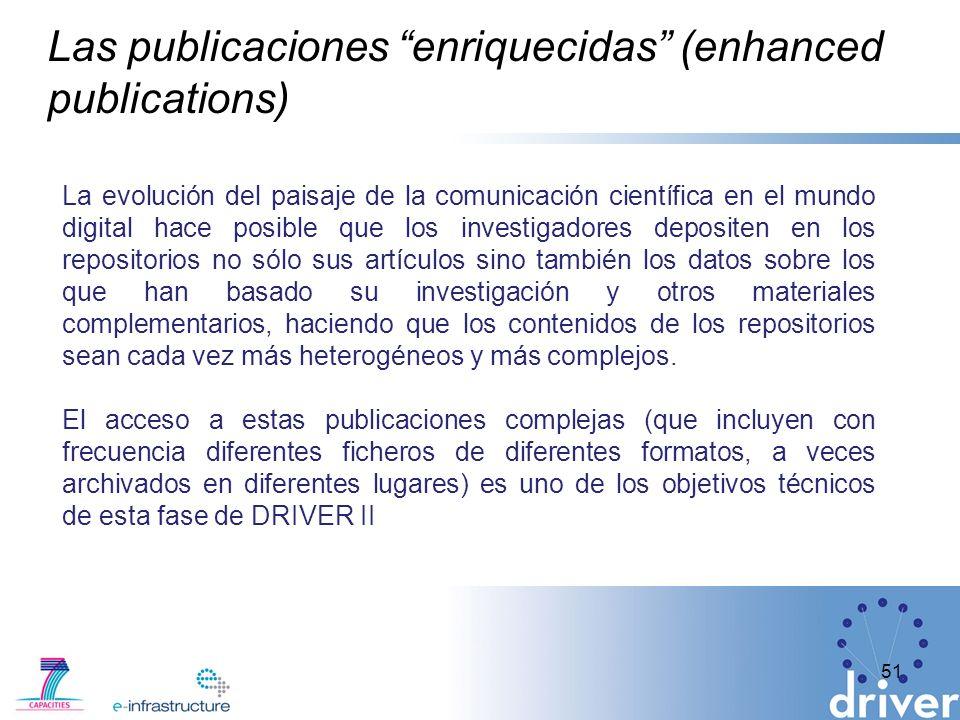 Las publicaciones enriquecidas (enhanced publications)