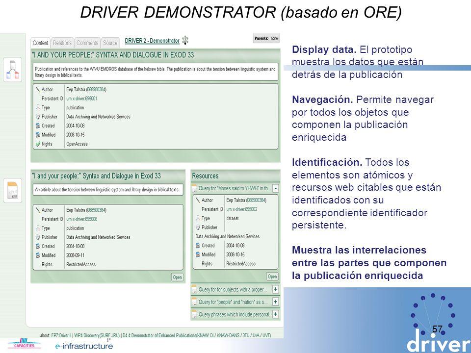DRIVER DEMONSTRATOR (basado en ORE)