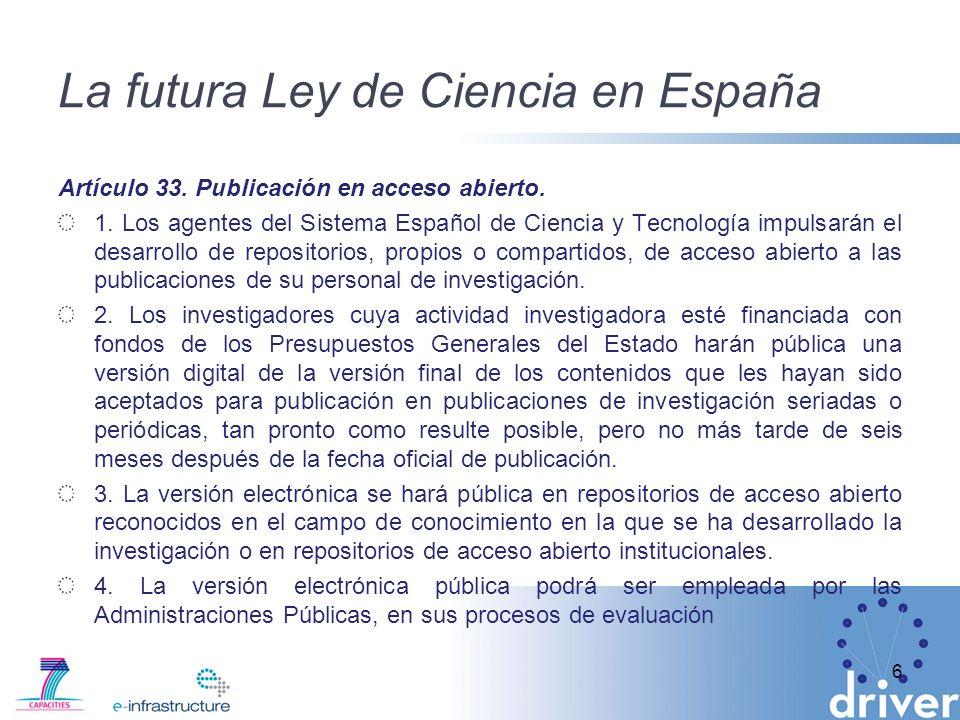 La futura Ley de Ciencia en España