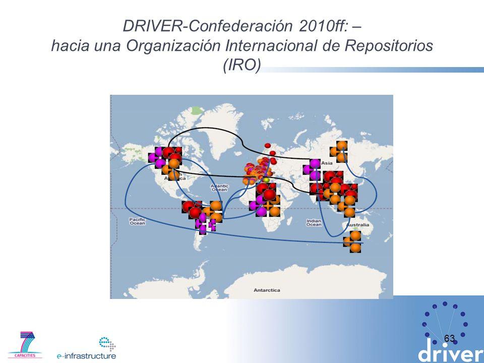 DRIVER-Confederación 2010ff: – hacia una Organización Internacional de Repositorios (IRO)