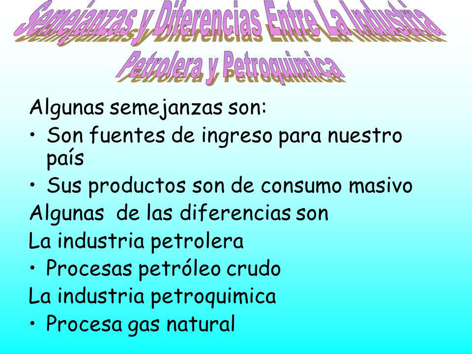 Semejanzas y Diferencias Entre La Industria