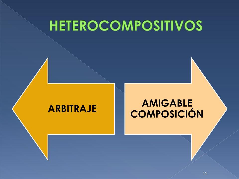 HETEROCOMPOSITIVOS ARBITRAJE AMIGABLE COMPOSICIÓN