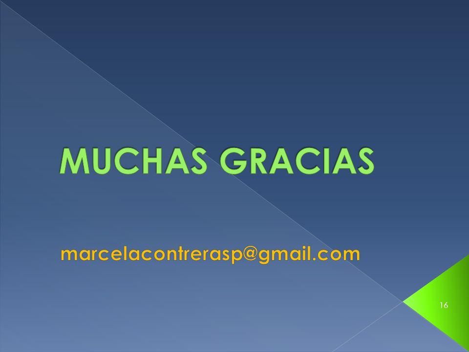 MUCHAS GRACIAS marcelacontrerasp@gmail.com
