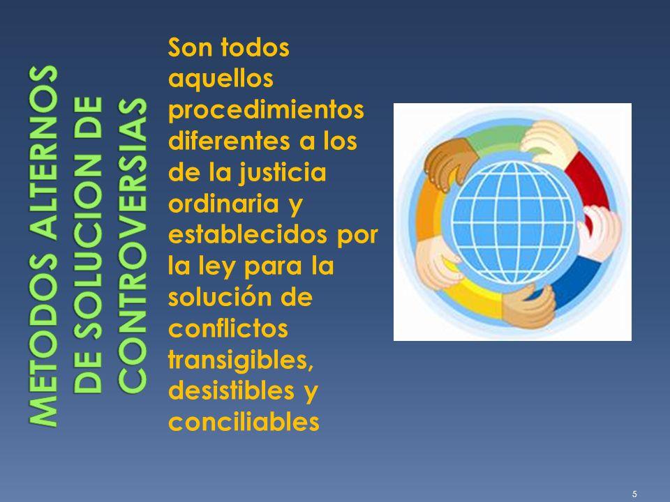 METODOS ALTERNOS DE SOLUCION DE CONTROVERSIAS