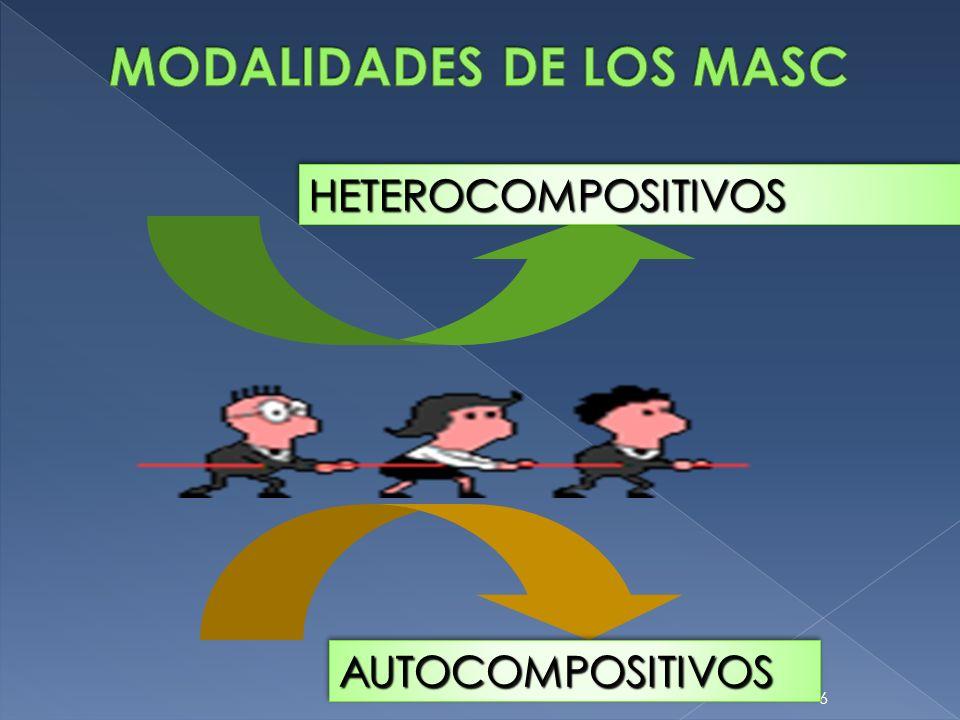 MODALIDADES DE LOS MASC