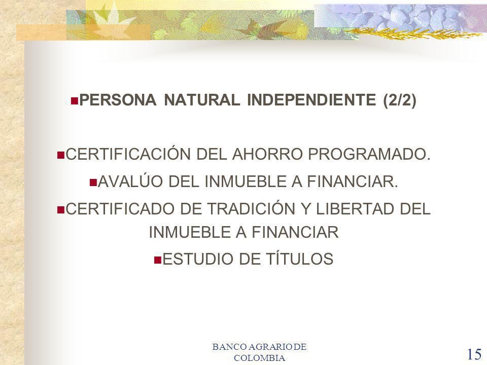 PERSONA NATURAL INDEPENDIENTE (2/2)