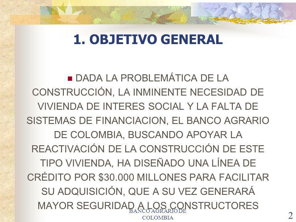 BANCO AGRARIO DE COLOMBIA