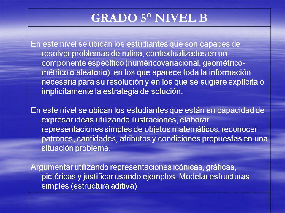 GRADO 5° NIVEL B