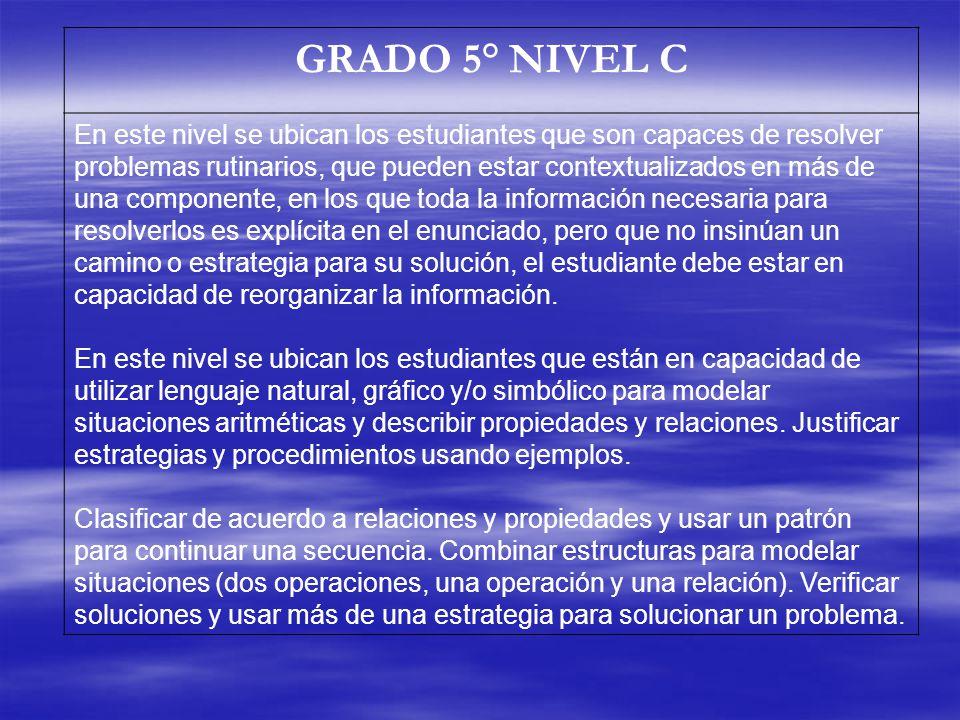 GRADO 5° NIVEL C