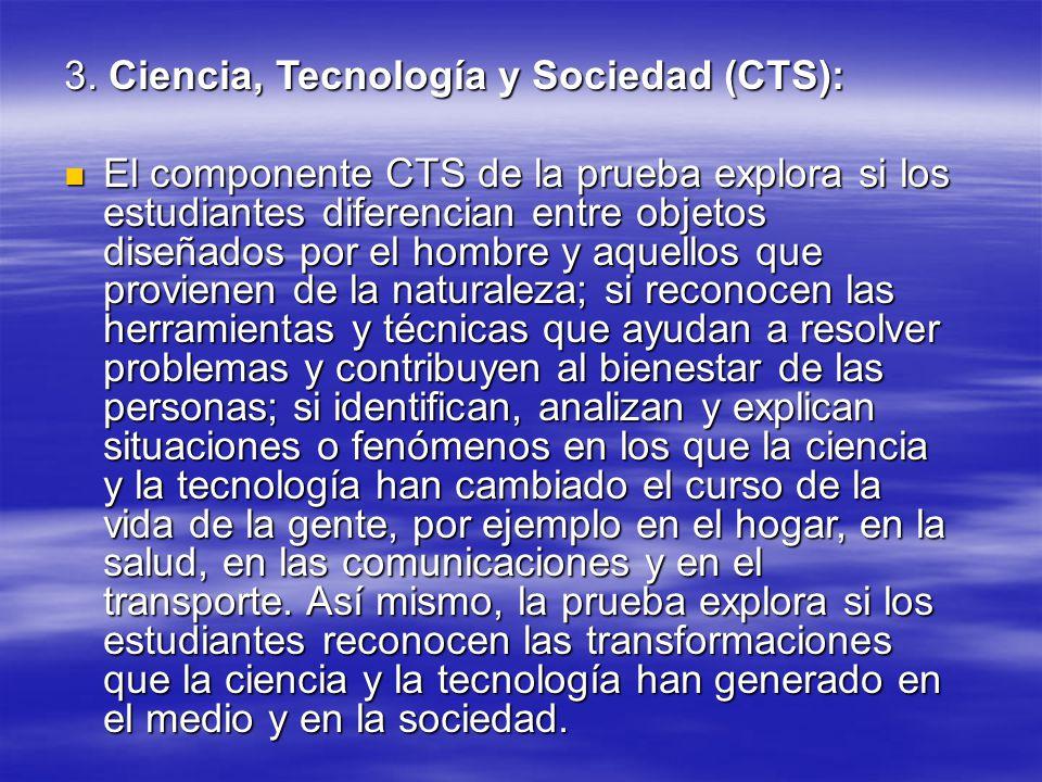 3. Ciencia, Tecnología y Sociedad (CTS):