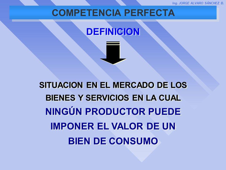 COMPETENCIA PERFECTA DEFINICION