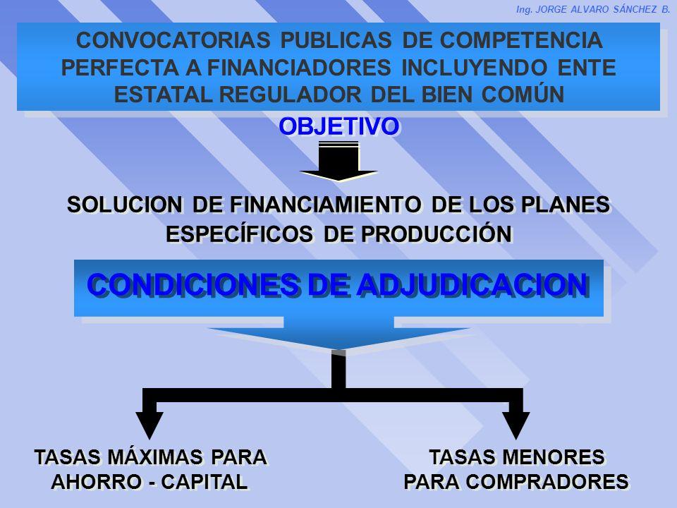 CONDICIONES DE ADJUDICACION
