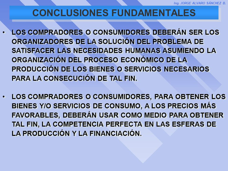 CONCLUSIONES FUNDAMENTALES