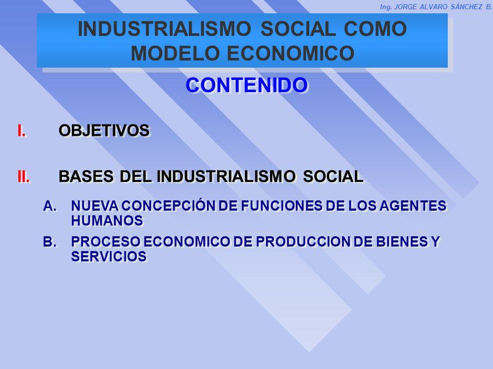 INDUSTRIALISMO SOCIAL COMO MODELO ECONOMICO