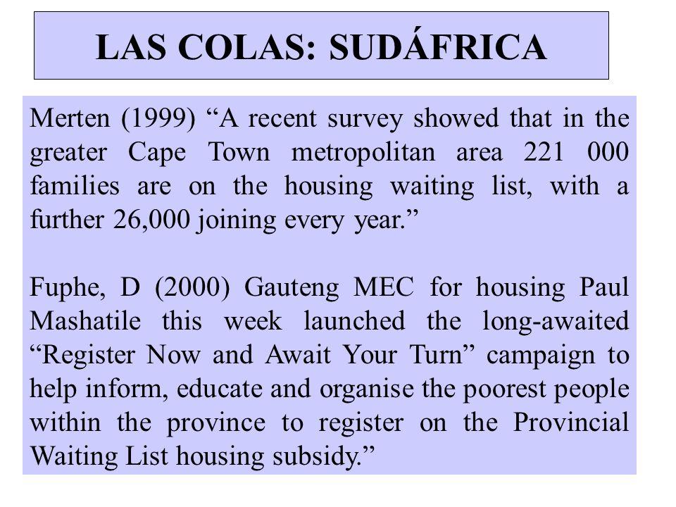 LAS COLAS: SUDÁFRICA