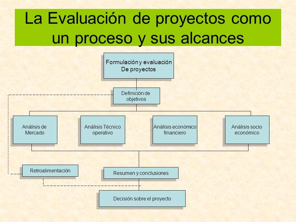 La Evaluación de proyectos como un proceso y sus alcances