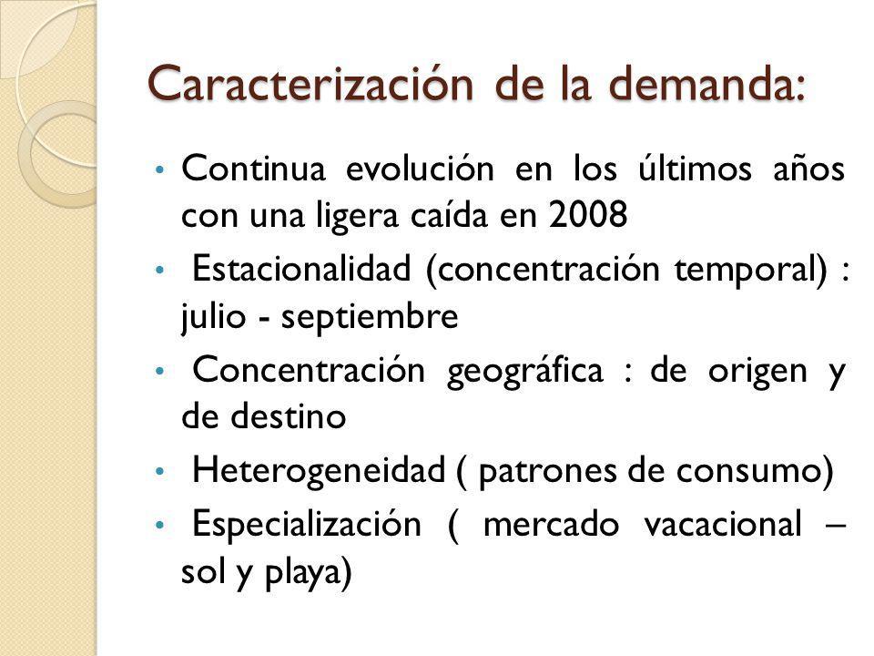 Caracterización de la demanda: