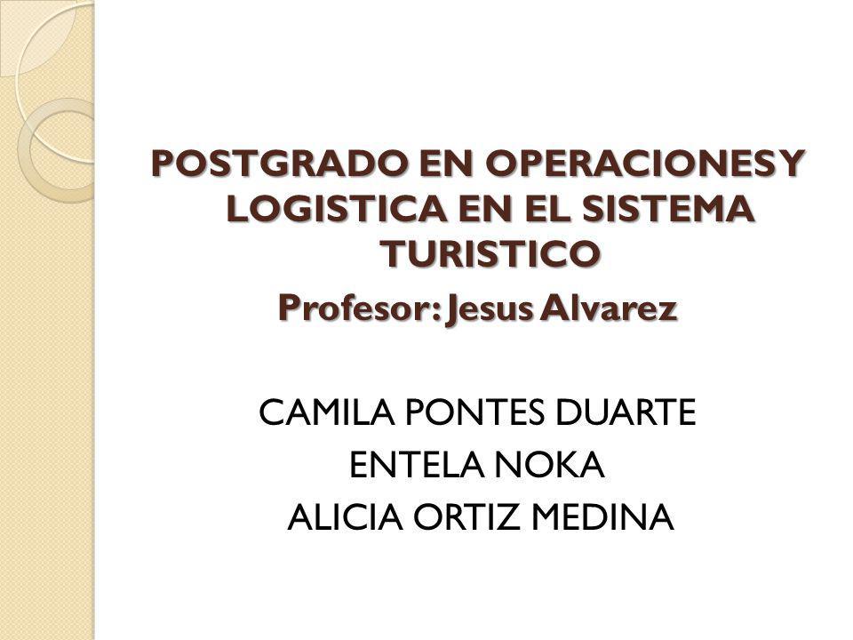 POSTGRADO EN OPERACIONES Y LOGISTICA EN EL SISTEMA TURISTICO Profesor: Jesus Alvarez CAMILA PONTES DUARTE ENTELA NOKA ALICIA ORTIZ MEDINA