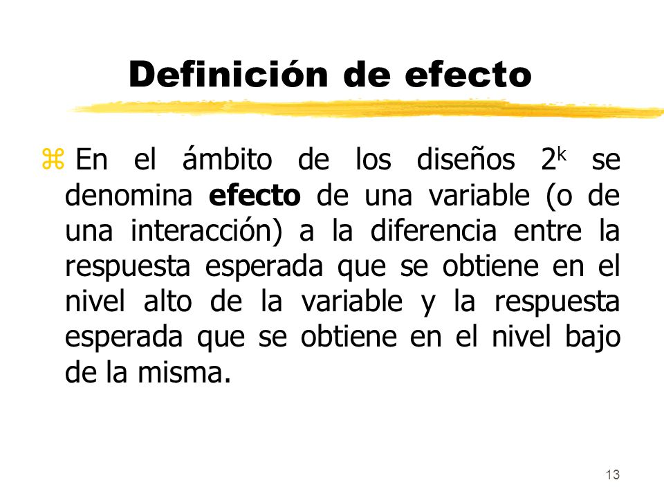 Definición de efecto