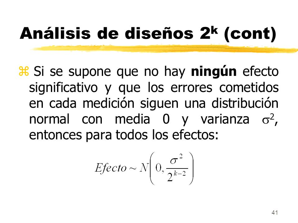 Análisis de diseños 2k (cont)