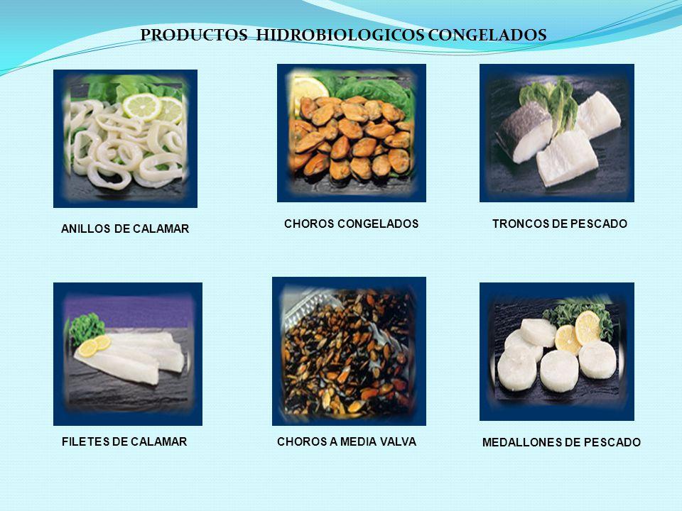 PRODUCTOS HIDROBIOLOGICOS CONGELADOS