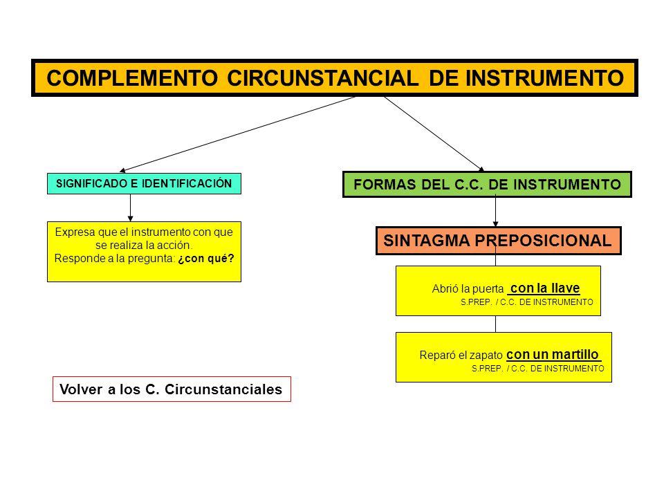 COMPLEMENTO CIRCUNSTANCIAL DE INSTRUMENTO