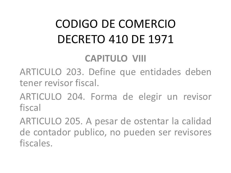 CODIGO DE COMERCIO DECRETO 410 DE 1971